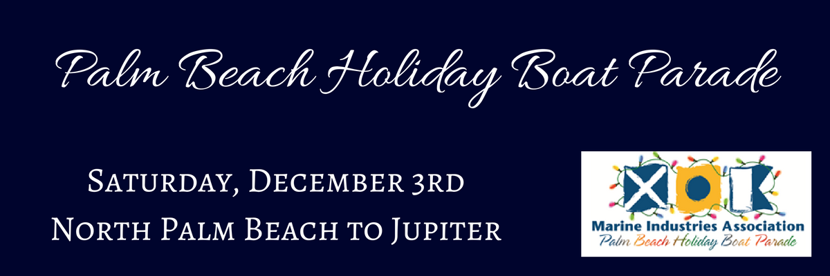 The Palm Beach Holiday Boat Parade from North Palm Beach to Jupiter