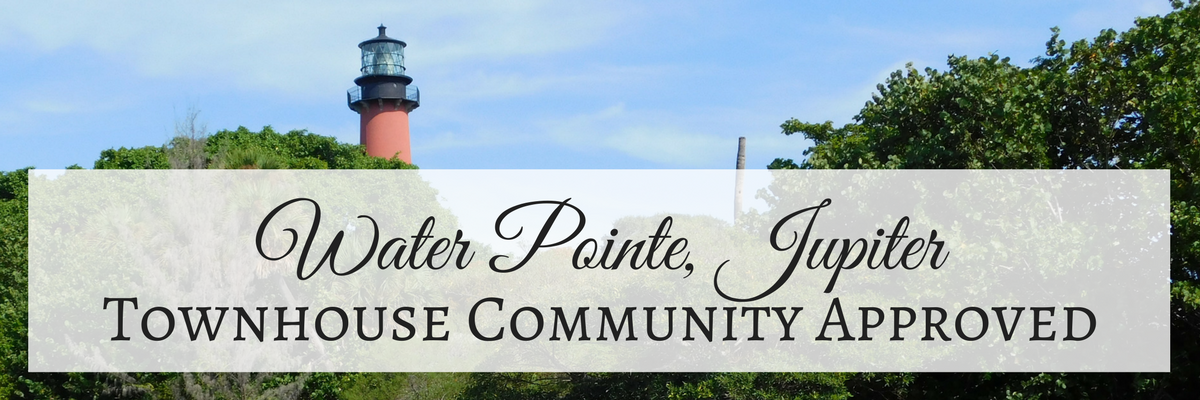 Water Pointe Townhouse Community in Jupiter